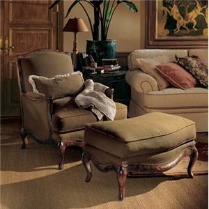 Henredon Henredon Upholstery Phillipe Chair and Phillippe Ottoman
