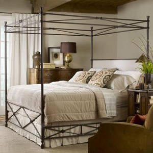 Laguna Queen Bed with Canopy and Upholstered Headboard