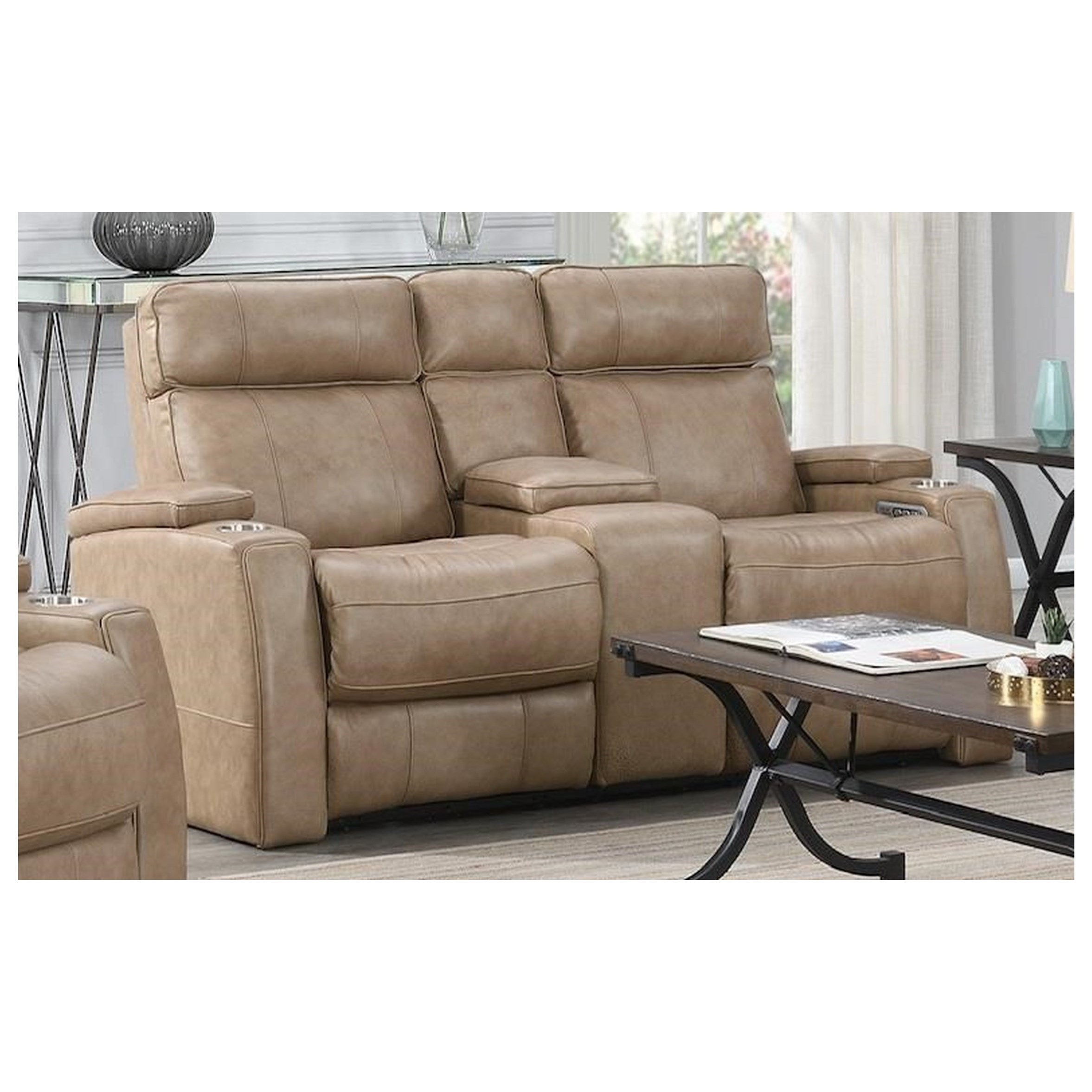Sosa Power Reclining Console by Highlife Furniture at Crowley Furniture & Mattress