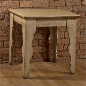 Square End Table with Distressed Finish