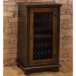 Hillsdale Accents Cabinet with Metal Insert Door