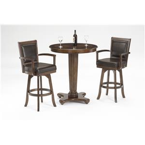3-Piece Pub Set with Fluted Pedestal