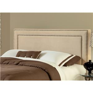 Hillsdale Amber Buckwheat Fabric Headboard - Queen