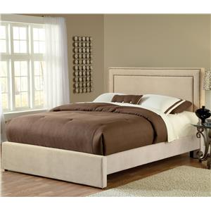 King Upholstered Bed Set with Rails