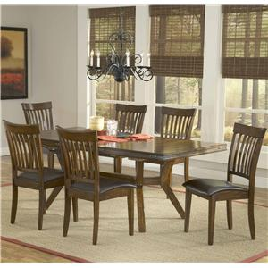 Hillsdale Arbor Hill 7 Piece Rectangular Dining Table Set