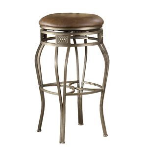 "Hillsdale Backless Bar Stools 26"" Backless Montello Swivel Counter Stool"