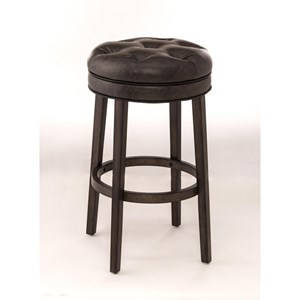 Backless Swivel Counter Stool with Upholstered Seat