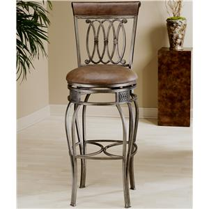"Hillsdale Metal Stools 28"" Counter Height Montello Swivel Stool"