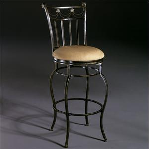 """Hillsdale Metal Stools 26"""" Counter Height Camelot II Swivel Stool"""