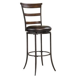 Cameron Swivel Ladder Back Counter Stool
