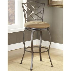"Hillsdale Metal Stools 24"" Counter Height Hanover Swivel Stool"