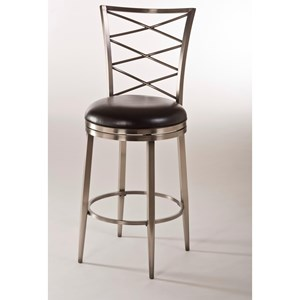 Swivel Counter Stool with Upholstered Seat