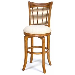 Swivel Counter Stool with Wicker Back