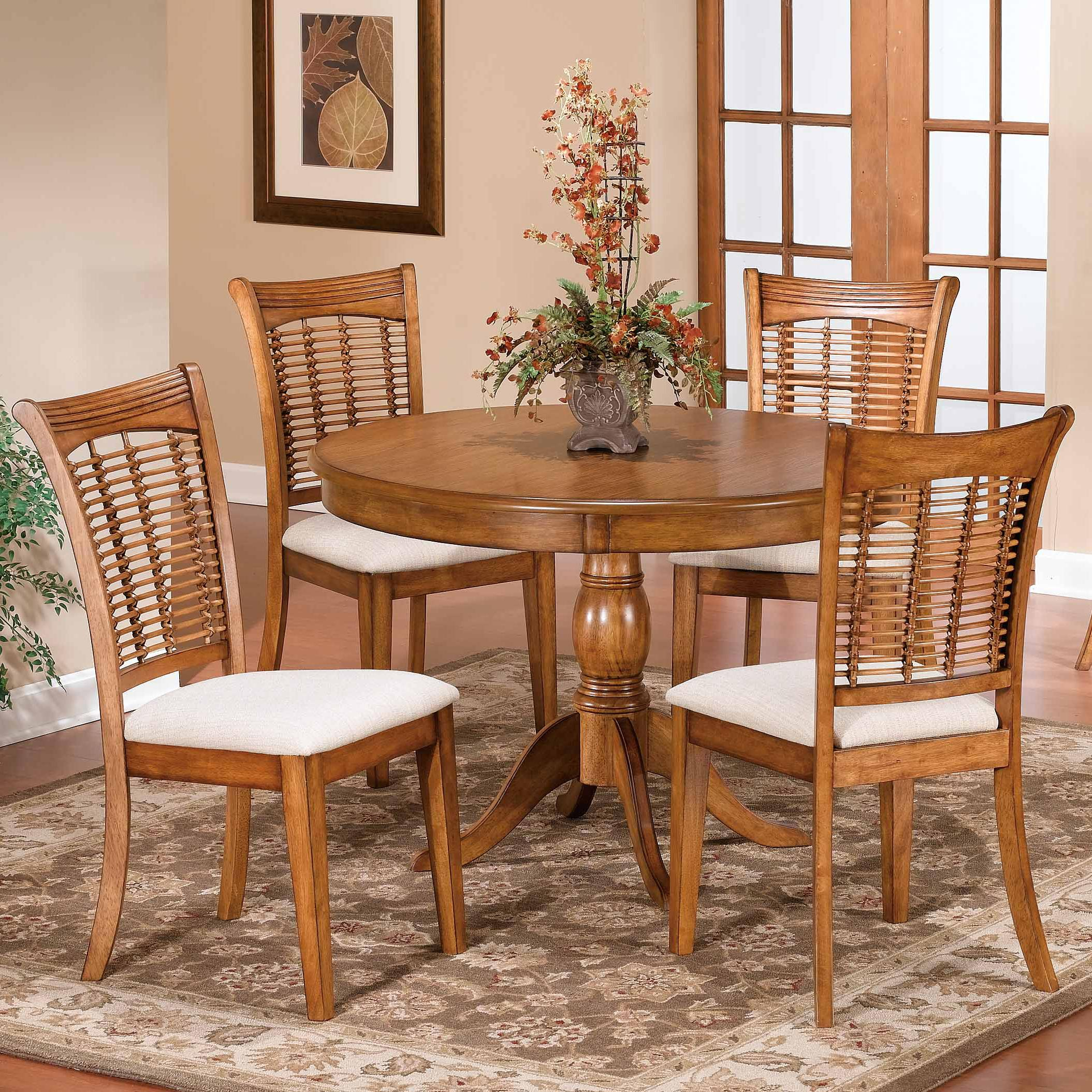 Bayberry and Glenmary Five Piece Round Dining Set at Ruby Gordon Home