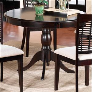 Hillsdale Bayberry and Glenmary Round Pedestal Table