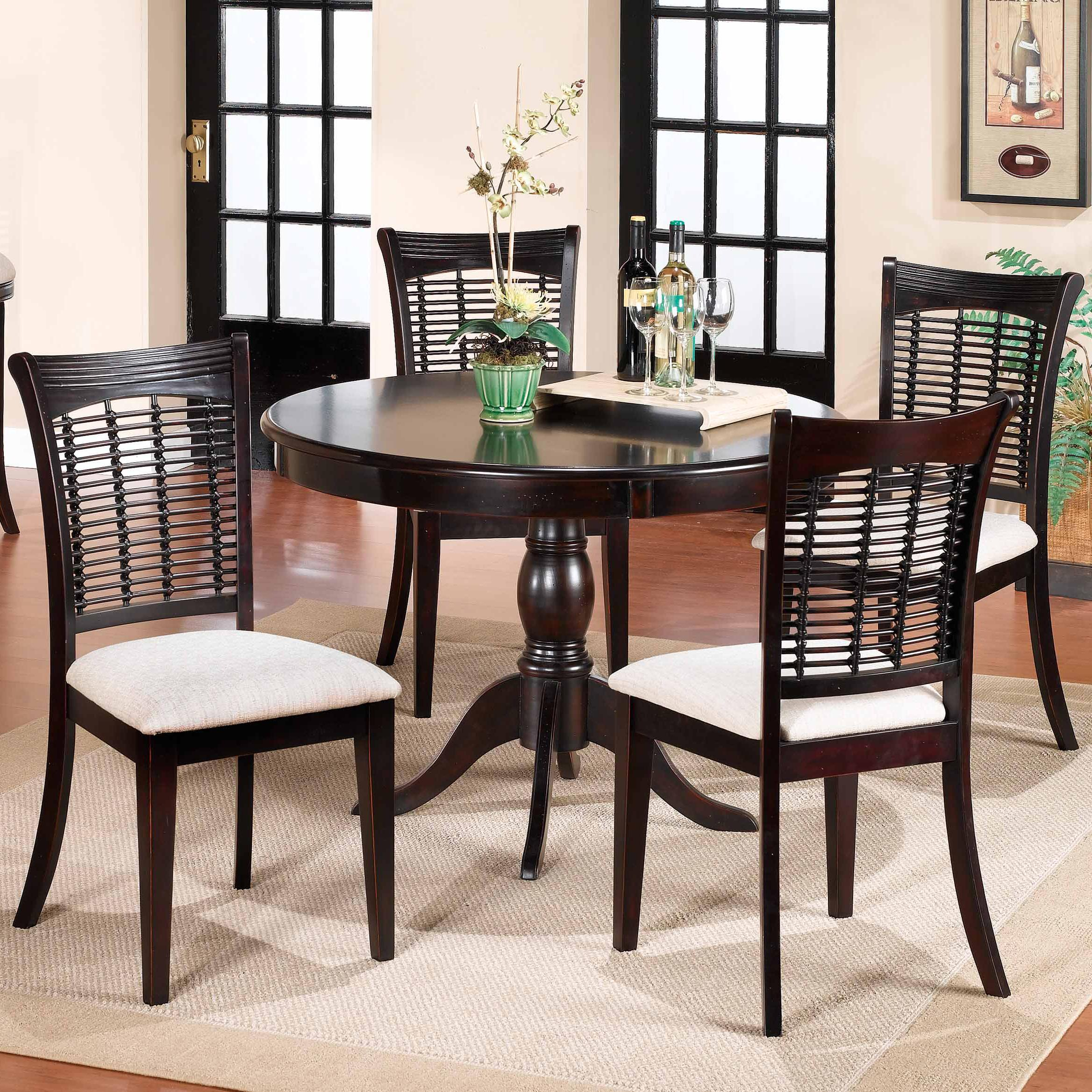 Bayberry and Glenmary Five Piece Round Dining Set by Hillsdale at Simply Home by Lindy's