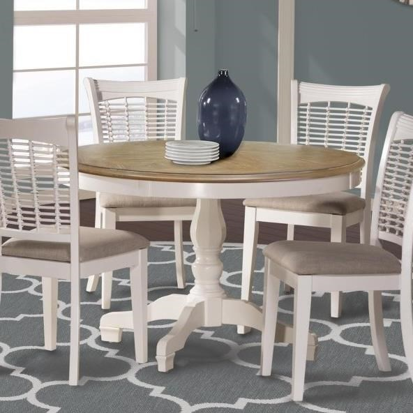 Bayberry White Round Table by Hillsdale at Lindy's Furniture Company