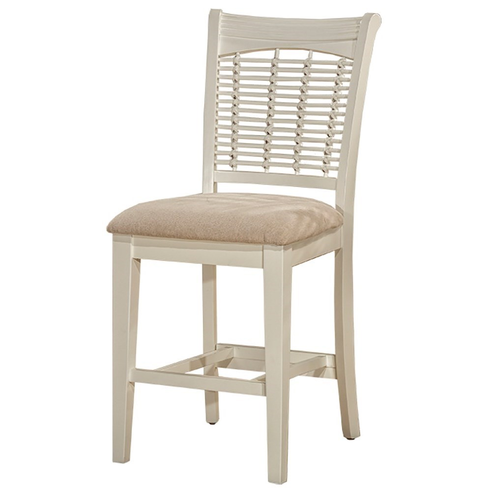 Bayberry White Non-Swivel Counter Stool by Hillsdale at Johnny Janosik