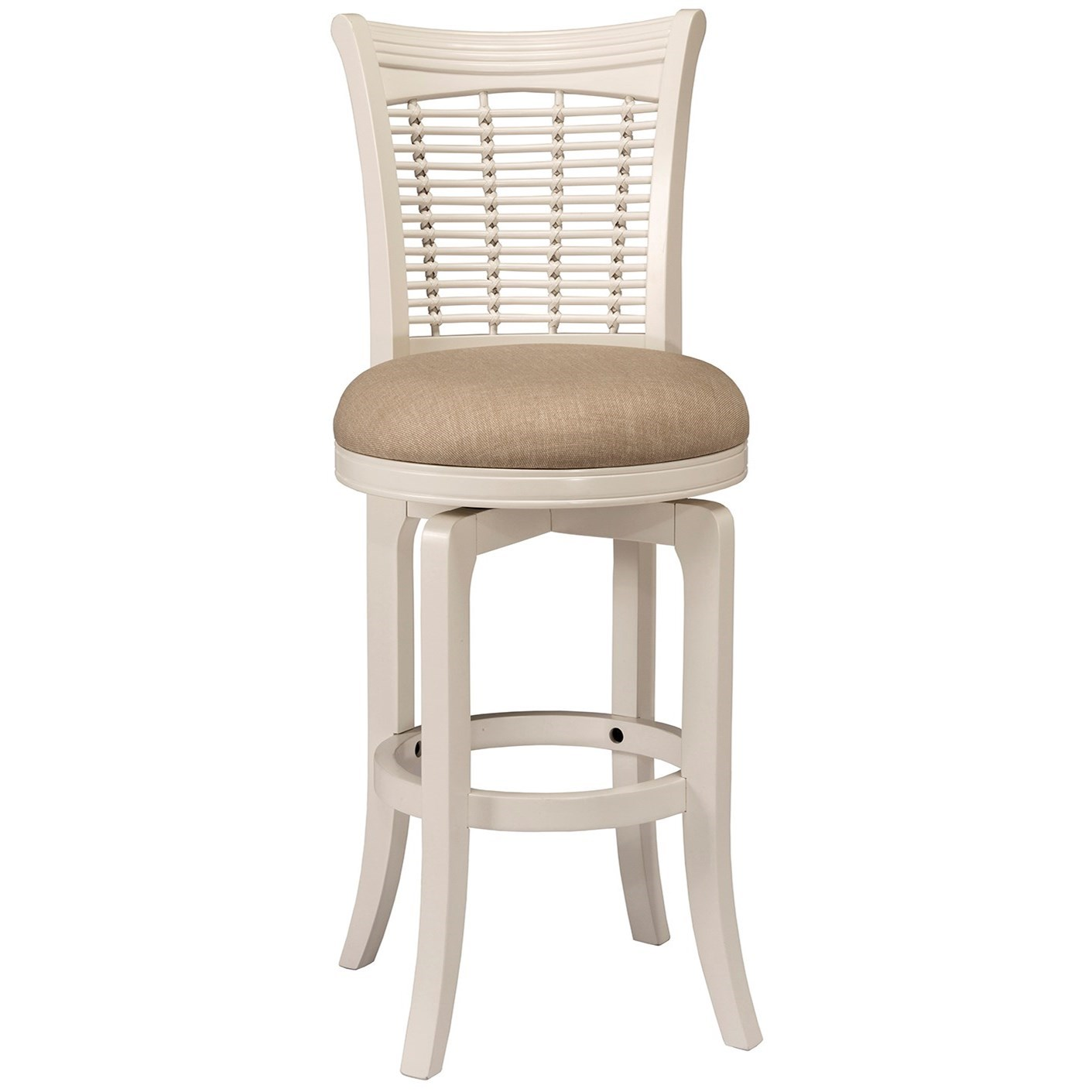 Bayberry White Swivel Bar Stool by Hillsdale at Gill Brothers Furniture
