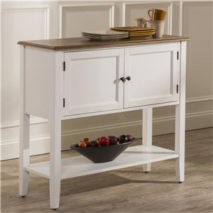 Hillsdale Bayberry White Dining Server