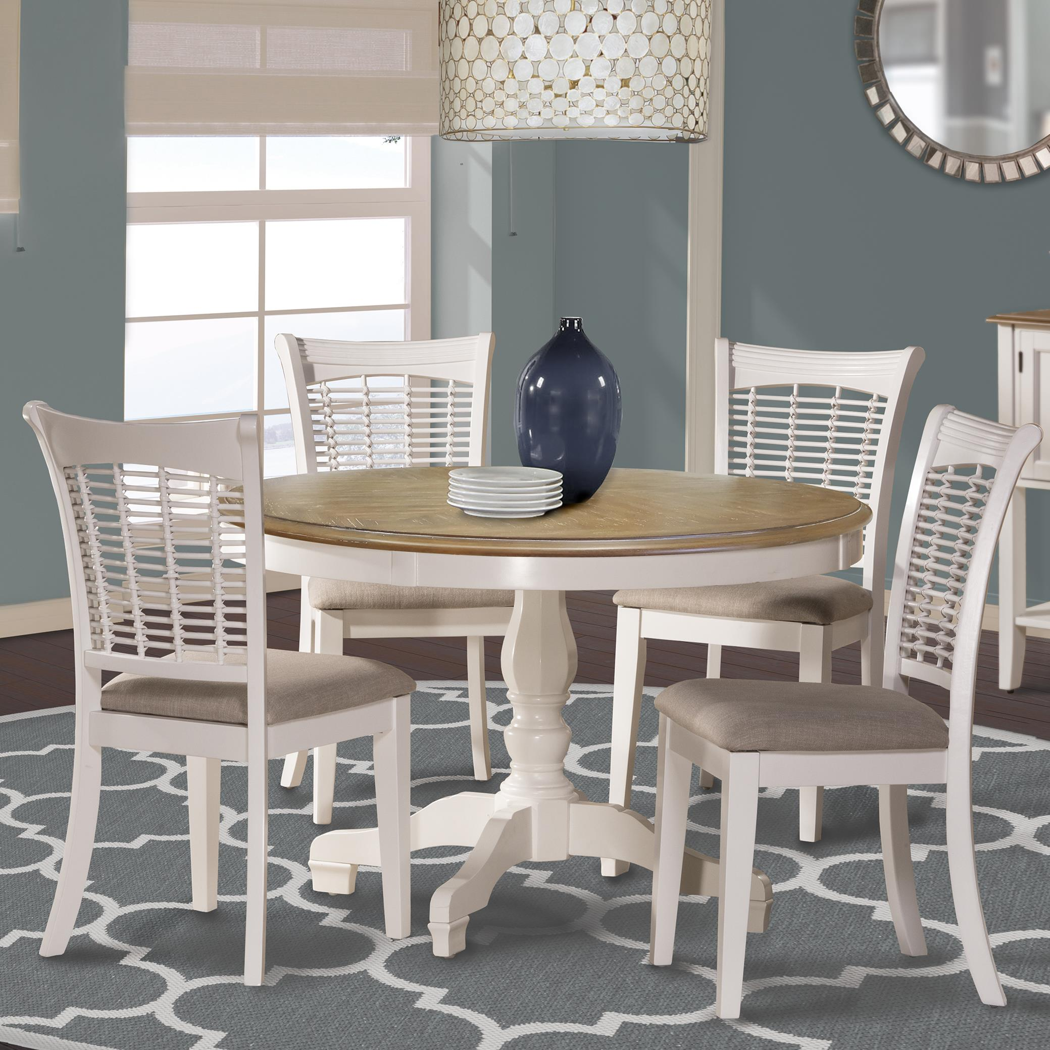 Bayberry White Five Piece Dining Set by Hillsdale at Simply Home by Lindy's