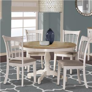 Hillsdale Bayberry White Five Piece Dining Set