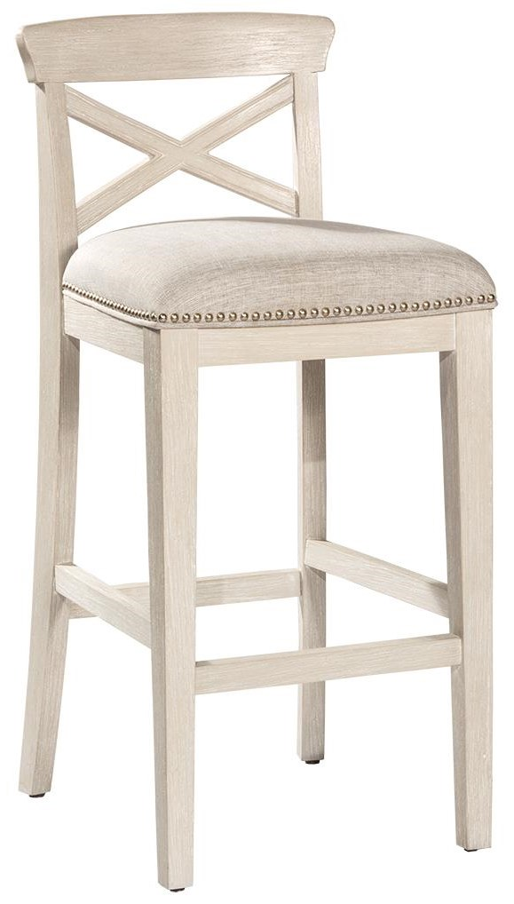 Bayview X-Back Non-Swivel Bar Stool by Hillsdale at Johnny Janosik