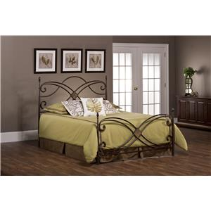 Hillsdale Metal Beds Barcelona Queen Bed Set Without Rails