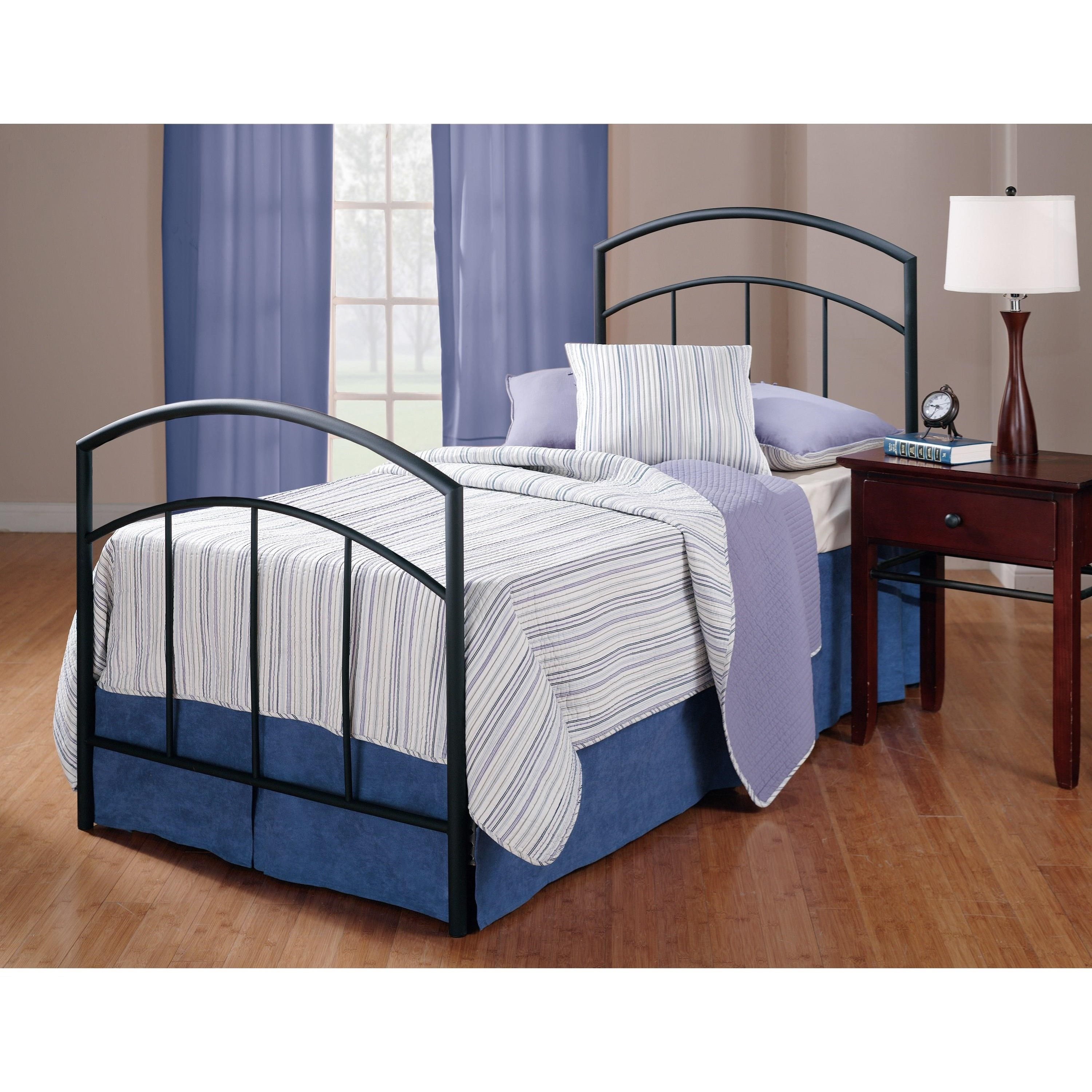 Metal Beds Twin Bed Set with Rails by Hillsdale at Steger's Furniture