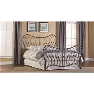 Hillsdale Metal Beds Bennington Queen Bed Without Rails