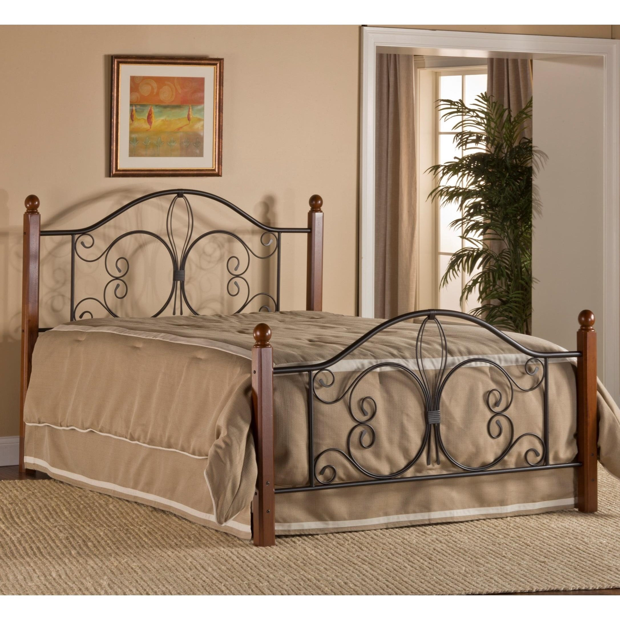Metal Beds King Milwaukee Wood Post Bed by Hillsdale at Steger's Furniture