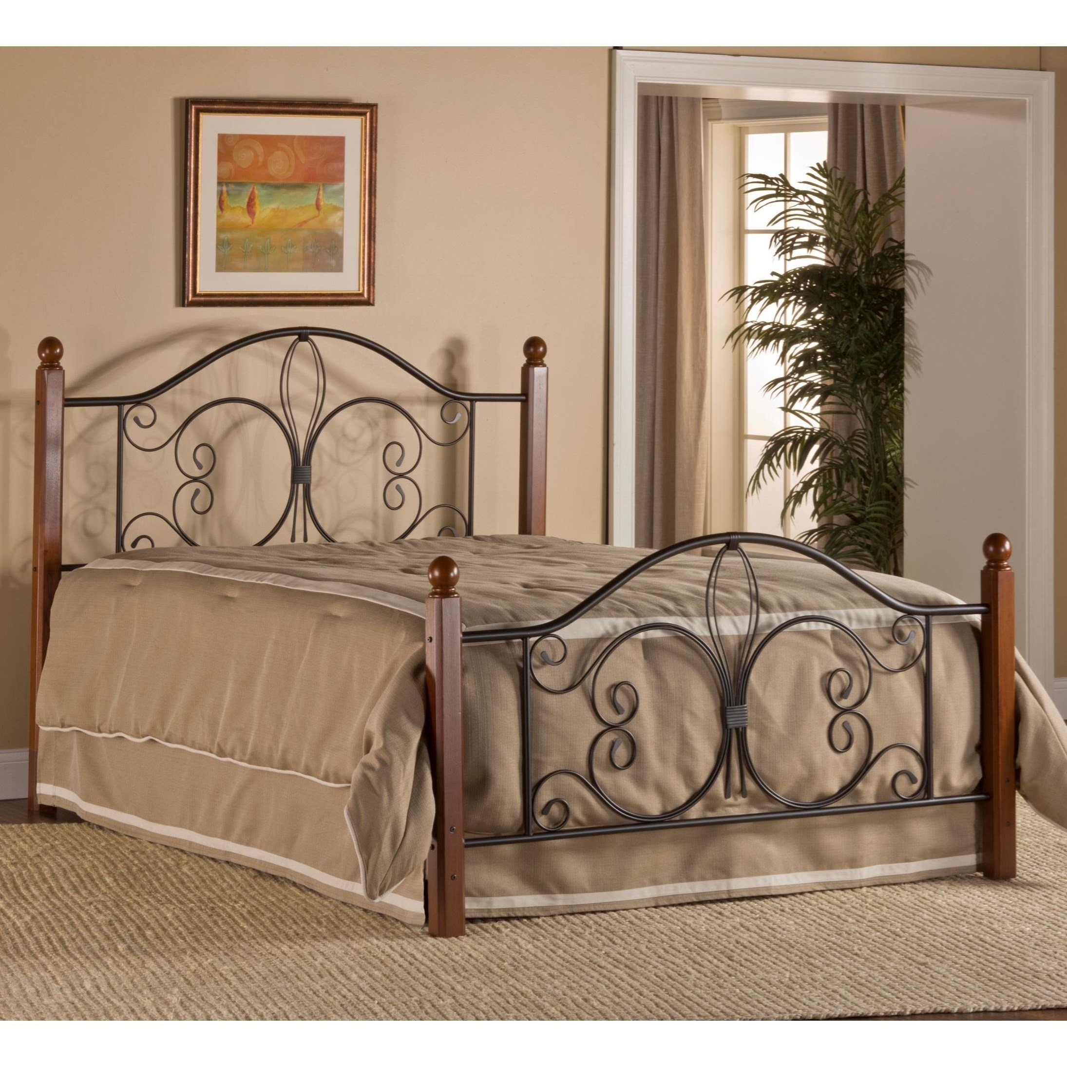 Metal Beds Twin Milwaukee Wood Post Bed by Hillsdale at Steger's Furniture