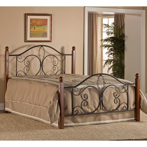 Twin Milwaukee Wood Post Bed with Bed Frame