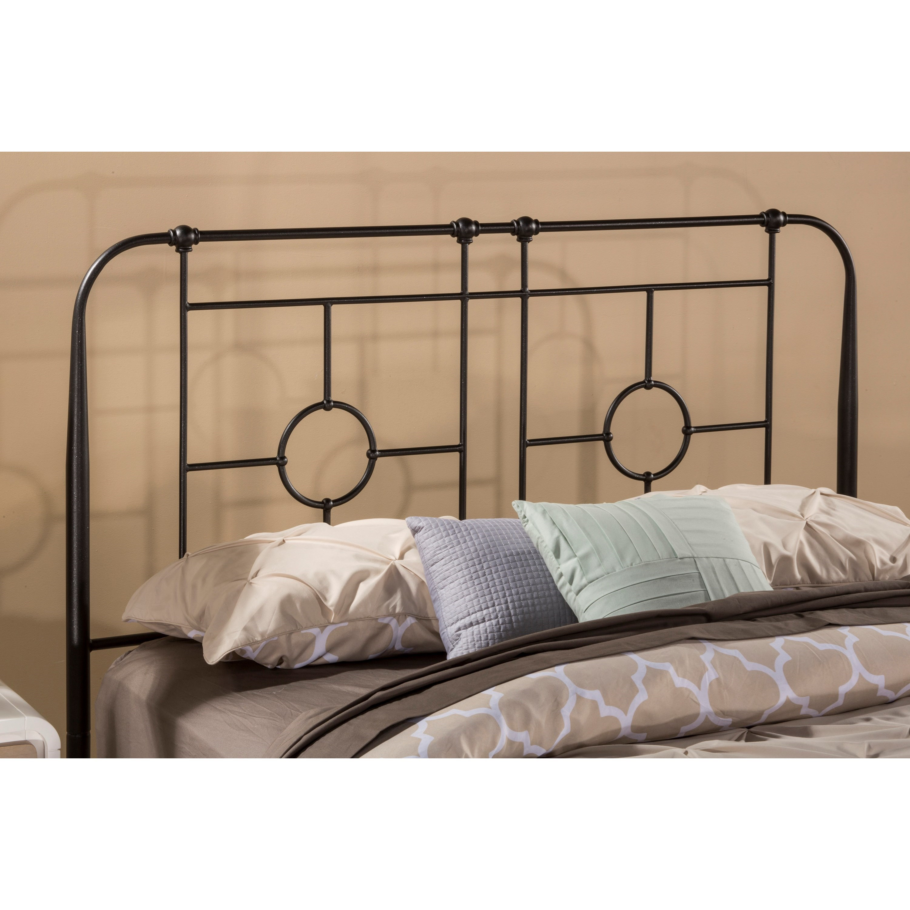 Metal Beds Twin Headboard with Frame by Hillsdale at Mueller Furniture