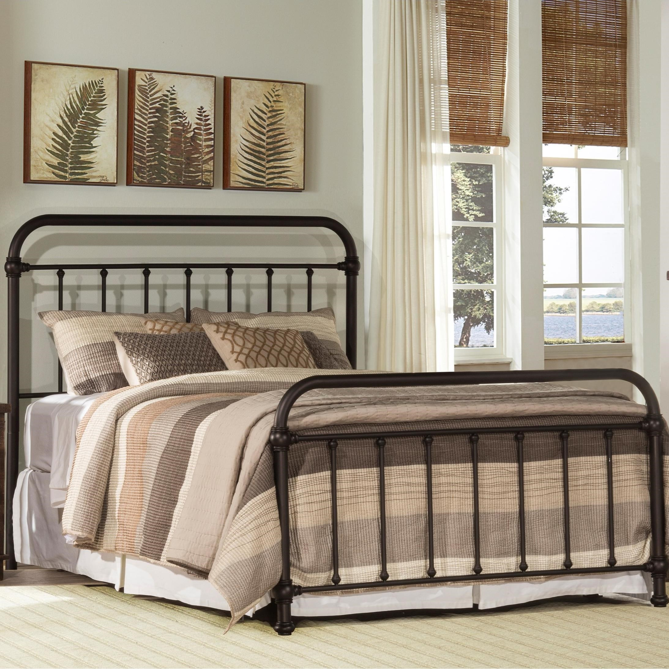 Metal Beds Queen Metal Bed by Hillsdale at Steger's Furniture