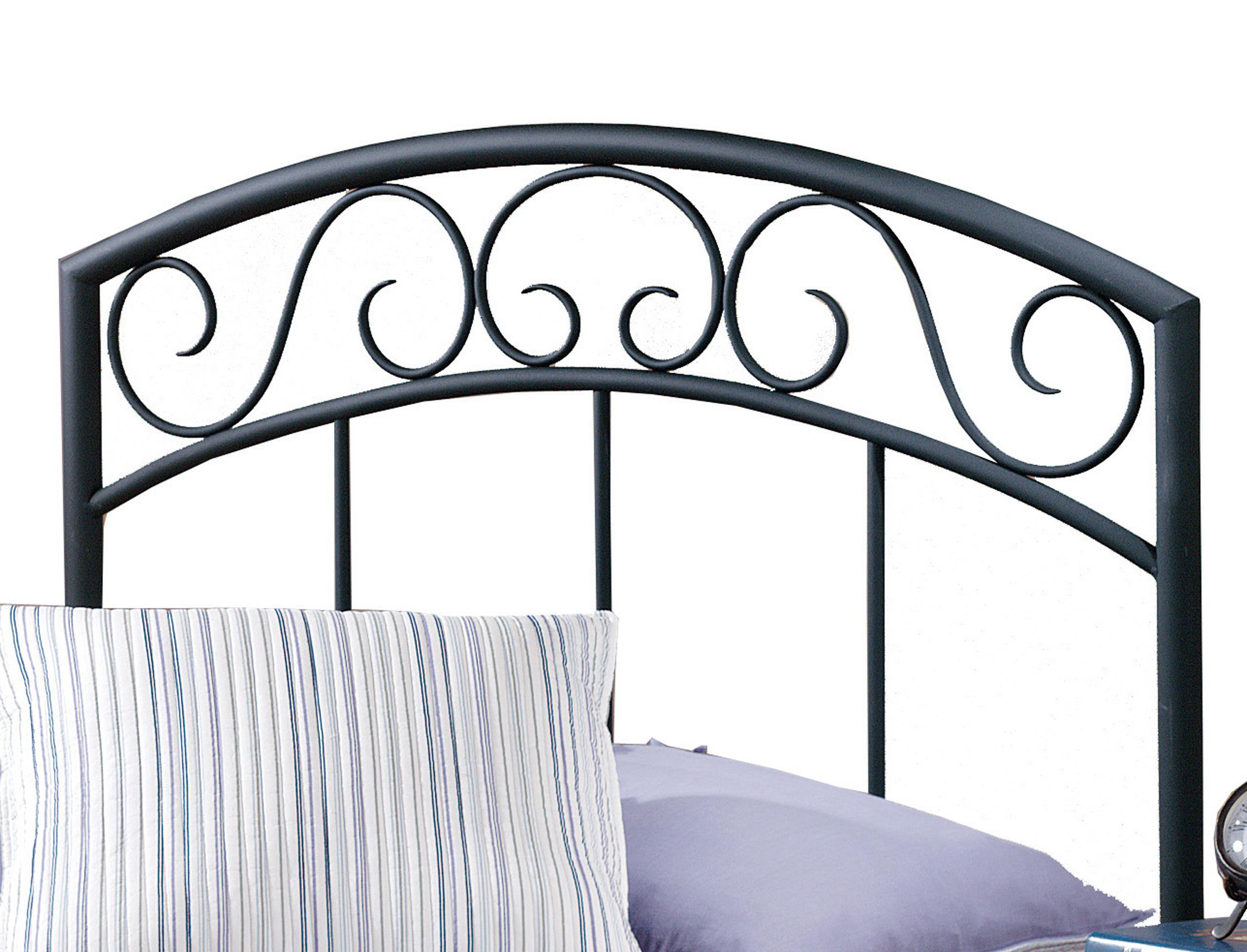 Metal Beds Wendell Twin Black Headboard by Hillsdale at Furniture Barn