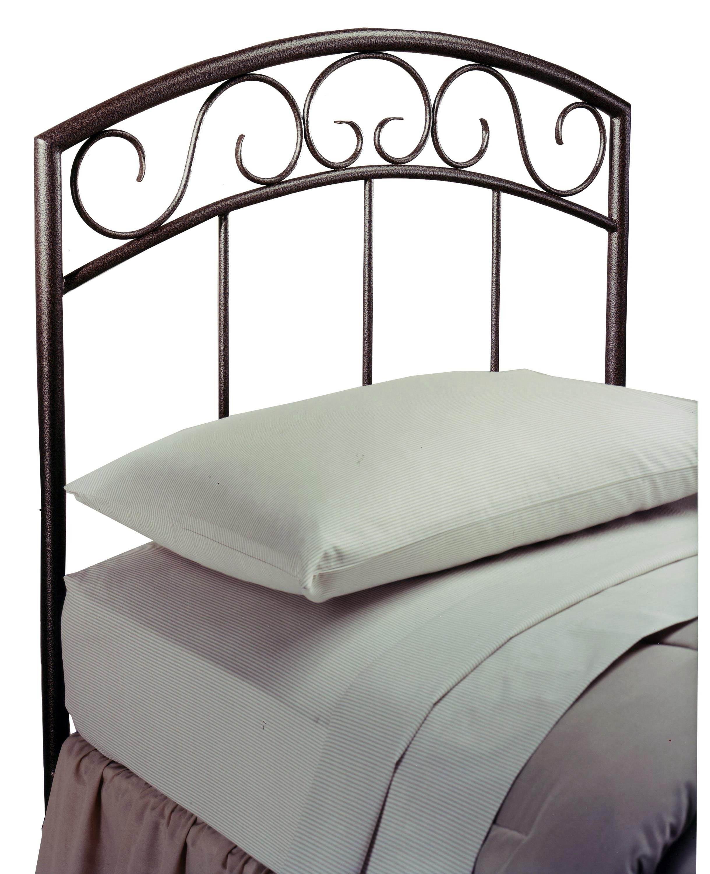 Metal Beds Wendell Twin Copper Pebble Headboard by Hillsdale at Steger's Furniture