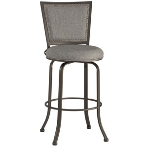 Transitional Swivel Bar Stool