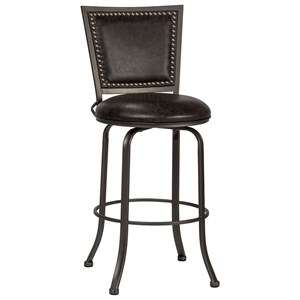 Transitional Counter Height Swivel Stool