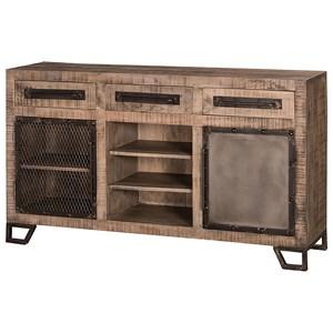 Hillsdale Bridgewater Sofa Table with One Door