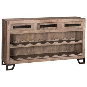 Hillsdale Bridgewater Sofa Table with Wine Rack