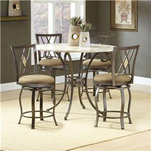 Hillsdale Brookside Five Piece Counter Height Dining Set