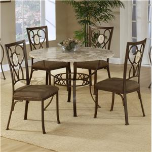Hillsdale Brookside Five Piece Round Dinign Set