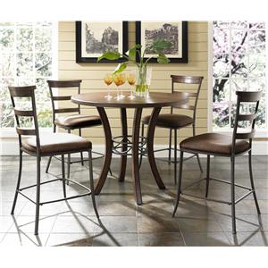 Hillsdale Cameron 5 Piece Round Counter Height Dining Set