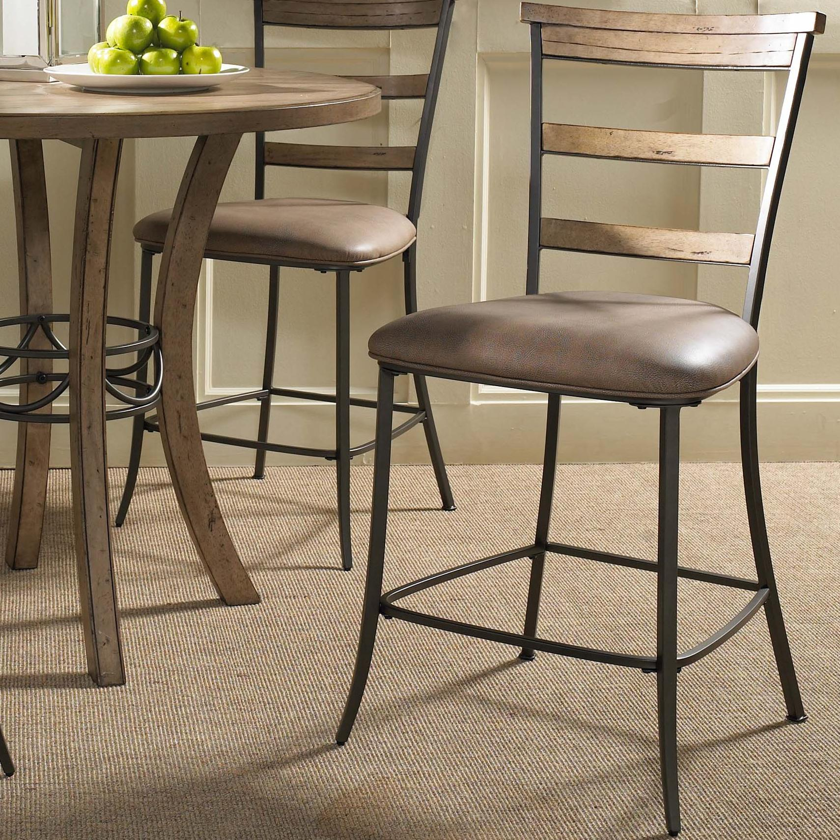 Charleston Ladder Back Non-Swivel Stool by Hillsdale at Gill Brothers Furniture