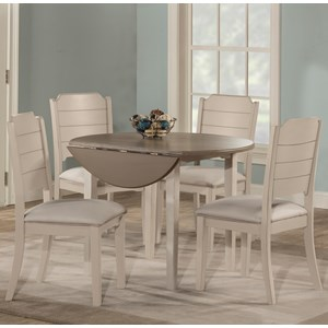5-Piece Dining Set w/ Drop Leaf Table
