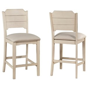 Non-Swivel Counter Height Stool -Set of 2