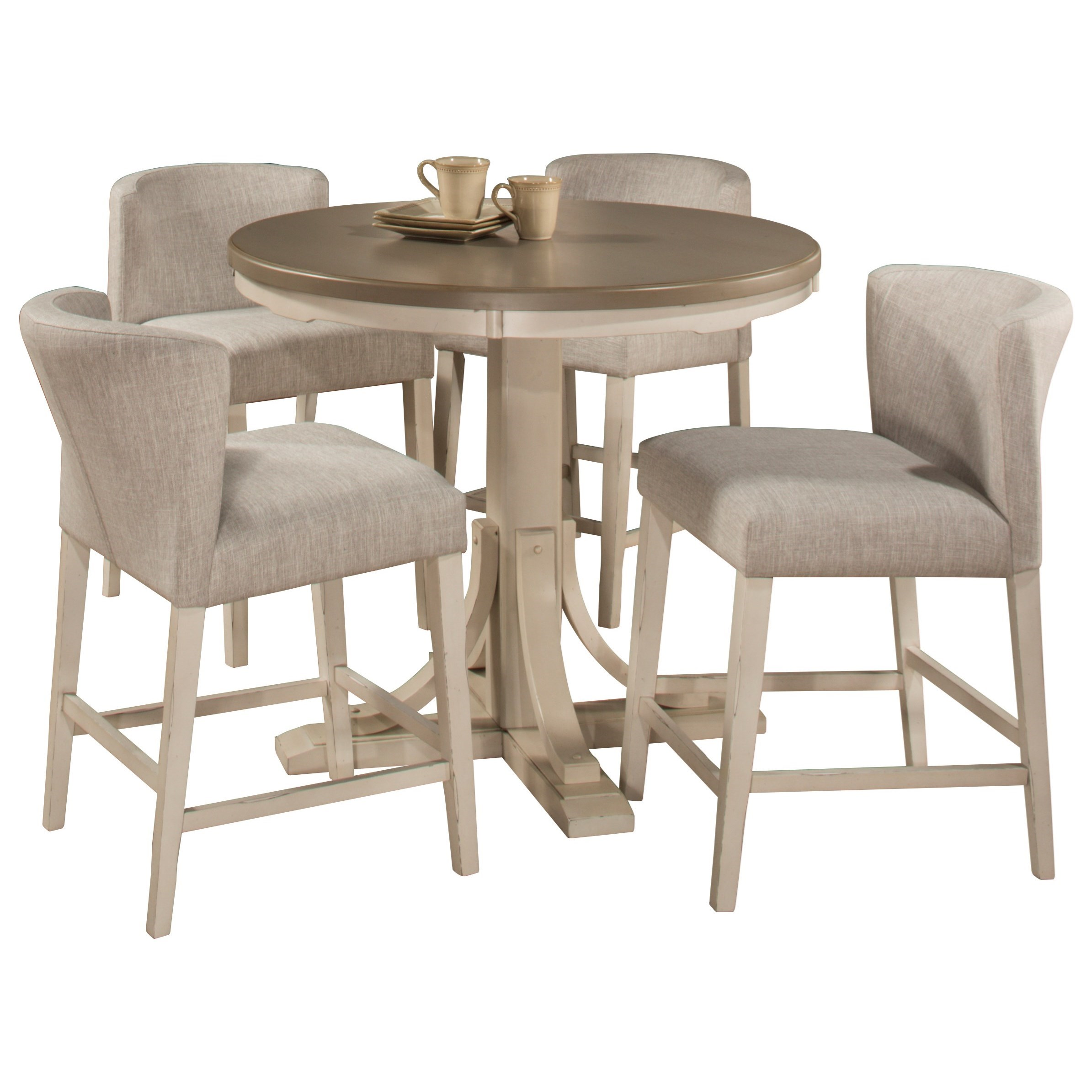 5-Piece Counter Height Dining Set w/ Wing Ch