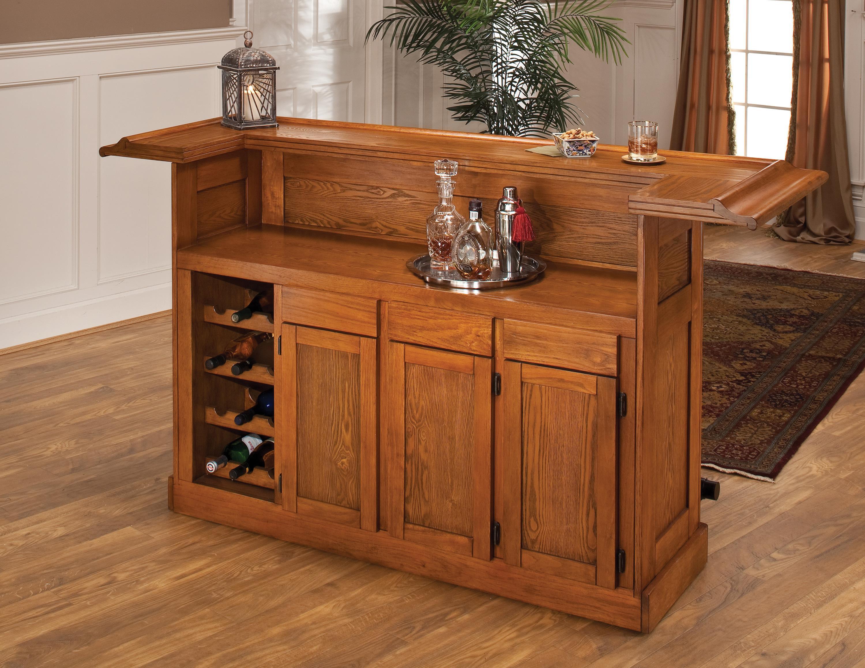 Classic Large Oak Bar at Ruby Gordon Home