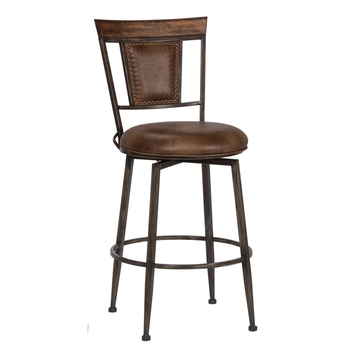 Danforth Commercial Grade Swivel Bar Stool by Hillsdale at Novello Home Furnishings